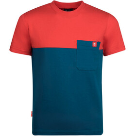 TROLLKIDS Bergen T-Shirt Kids, petrol/spicy red